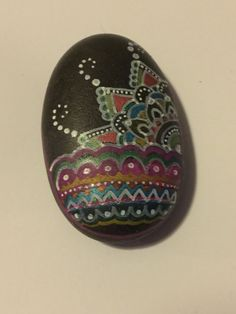 Hand painted rock by MyPurdyPebbles on Etsy