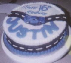 License Plate Cake For 16 Year Old Ashley S Creations Pinterest License Plates Cake And