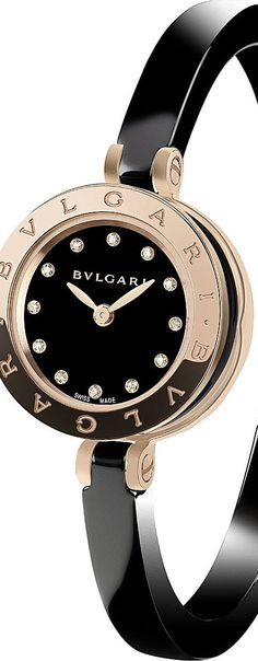 BVLGARI -  pink-gold, stainless steel and diamond watch