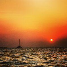#sunset #colores #atardecer #caribe #views #sky #mar #sea #iphoto #cartagena #colombia