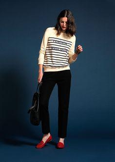 Sézane / Morgane Sézalory - Masculin Feminin sweatshirt #sezane #sweatshirt www.sezane.com/fr #frenchbrand  #frenchstyle #outfit