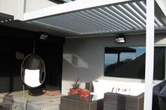 Get your quality aluminium roof louvres at affordable prices. Flat pack louvres mean you save big on installation costs! Deck Balustrade Ideas, House Landscape, Outdoor Living, Outdoor Decor, Louvre, Windows, Building, Flat, Decking
