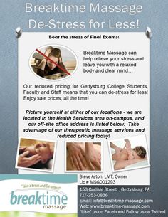 Our Updated Informational Flyer  Breaktime Massage Promotions