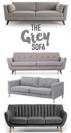 Reasons why you should buy a grey sofa. @visualheart www.visualheart.com #Furnituresofa