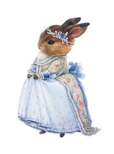 "mayahan: "" Watercolor Bunnies by Oxana Fomina """