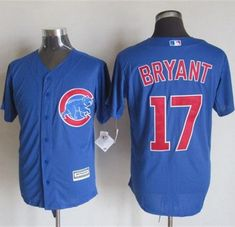 ee3de30a7f6 Cubs  17 Kris Bryant Blue New Cool Base Stitched MLB Jersey
