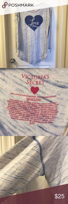 "Victoria's Secret Sleep Shirt ""Love""  VS sleep Shirt Small  No holes/stains Victoria's Secret Intimates & Sleepwear Pajamas"
