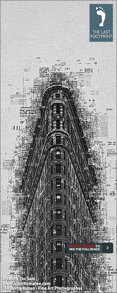"""ARTWORK FOR SALE   Flat Iron Building, """"Already Written Series"""", Print #11/16 by Alberto Mateo   Hand-signed and Certified Original Fine Art Print.   No more than 128 Prints will be ever produced.   Different sizes up to 42x60 inches (108x150 cm) as Lambda, Canvas and Cotton Paper Prints.   BUY Fine Art Photography by ALBERTO MATEO.   VISIT http://www.albertomateo.com to see more Collections and Prints. 195$"""