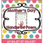Mother's Day Poem: This beautiful and original handprint poem will make a lovely Mother's Day Gift for the Moms of the children you teach! Mothers Day Poems, Unique Mothers Day Gifts, Mothers Day Gifts From Daughter, Mothers Day Crafts, Happy Mothers Day, Mother Day Gifts, Handprint Poem, Mother's Day Theme