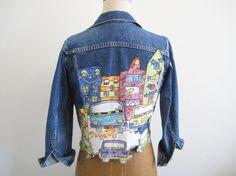Vintage urbano alterado chaqueta de Jean por TheChurchofVintage