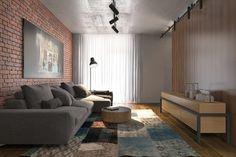 exposed brick walls decor tiny apartment interior design