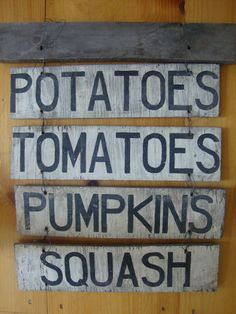 wood produce sign - Google Search