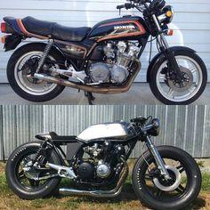 """11.5 k likerklikk, 154 kommentarer – SAINT MOTORS Co.™ ♠♣ 19⚡13 (@saint_motors) på Instagram: """"📷 & 🔨🔩🔧@ovspils BEFORE & AFTER. #honda #cb750 #custom #bike #motorcycle #bratstyle #scrambler…"""""""