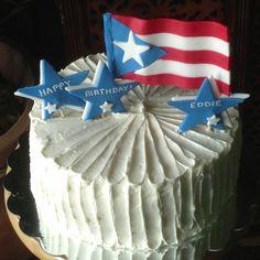 Puerto Rican Flag Birthday Cake