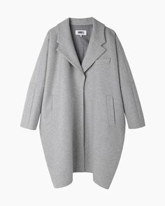 because everyone should dress like kim basinger in 9 1/2 weeks (MM6 by Maison Martin Margiela  Cocoon Coat)