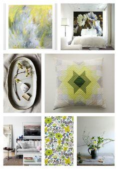 Green Echo Star Pillow