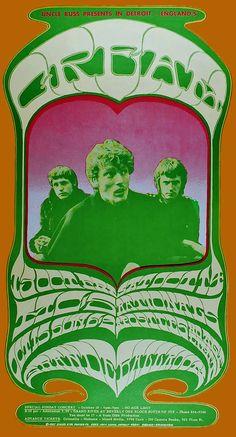 Cream concert poster (Detroit) October 13, 1967