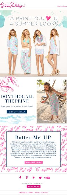 Lilly Pulitzer: Summer looks with a side of lobstah