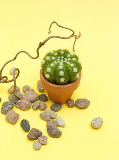 needle felted cactus pincushion