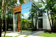 A Glass House in the Tropics, Bali, Indonesia Toma Design House Of Mirrors, Residential Architecture, Amazing Architecture, Interior Architecture, Interior Design, Construction, Glass House, Modern House Design, Minimalist Home