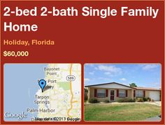 2-bed 2-bath Single Family Home in Holiday, Florida ►$60,000 #PropertyForSale #RealEstate #Florida http://florida-magic.com/properties/3970-single-family-home-for-sale-in-holiday-florida-with-2-bedroom-2-bathroom