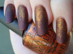 Revlon Spice It Up and OPI A Woman's Prague-ative glitter gradient, mattified *click for more*