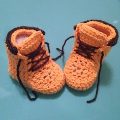 Crochet Baby/ Toddler Woodsmen Construction by RibbonYarnGalore