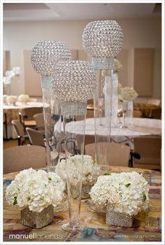 Reception Centerpiece  Atlanta Wedding Flowers, Bridal Bouquets, Decorations, Lounge furniture, Chiavari Chairs, Chair covers, Grace Ormonde Platinum List. Wedding...