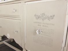 Loveleigh Treasures: A Buffet Makeover  Annie Sloan Old White and Country Gray.