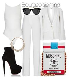 """Spotless"" by bourgeoisiemind on Polyvore featuring Givenchy, Christian Louboutin, Moschino, DKNY, Topshop, Forever 21 and Smoke & Mirrors"