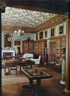 "The Regency Country House: From the Archives of ""Country Life"" (Country Life) English Country Manor, Country Life, 1920s Architecture, Classic Library, Beautiful Library, Georgian Homes, Rustic Style, Regency, Interior Decorating"