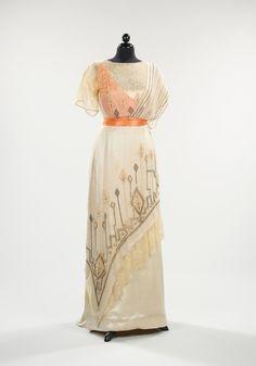 Evening dress ca. 1911-1913 via The Costume Institute of The Metropolitan Museum of Art