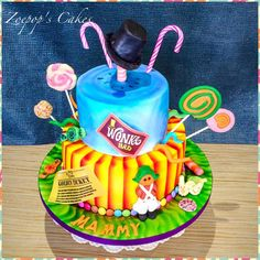 Charlie and the Chocolate Factory - Cake by Zoepop