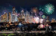Austin NYE Fireworks Dec 31 2019 by Karl Ring Adventure Awaits, Nye, Fireworks, Christmas Tree, Holiday Decor, Places, Travel, Dreams, Ring