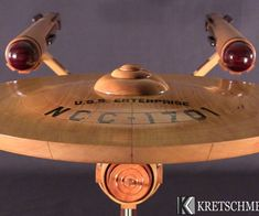 This page details the step by step construction of a 36 inch model of the Starship USS Enterprise from the original Star Trek series. The theme of this project is to use all natural wood grain with no paint. The colors are accomplished by incorporating different woods of various colors.Main hull: Hard mapleBase and brown details: Black walnutDish: Osage orangeEngine domes and pin stripes: PadaukBlack inscriptions: EbonyYellow inscriptions: Yellowheart*Check out my other projects on…