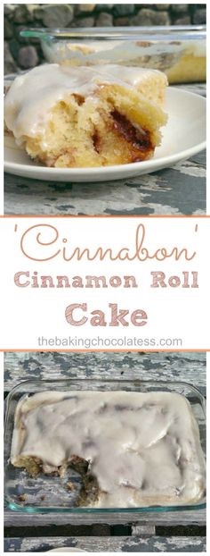 Sinful 'Cinnabon' Cinnamon Roll Cake - If you're craving ooey-gooey, buttery, sweet and cinnamon-y, rich decadent cinnamon rolls, you might want to consider this Sinful 'Cinnabon' Cinnamon Roll Cake! Have a fork ready, this one is awesome warm from the oven!
