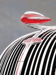 You don't see them on cars anymore. But at one time a car was not complete without a hood ornament.This one from a Hudson Terraplane is my 'All Time' favourite. Retro Cars, Vintage Cars, Antique Cars, Vintage Stuff, Hudson Terraplane, Car Bonnet, Car Badges, Car Logos, Car Hood Ornaments