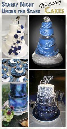 Starry Night - Under The Stars - Wedding Cake Ideas