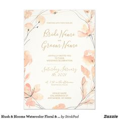 Blush Wedding Invitations, Personalised Wedding Invitations, Wedding Invitation Suite, Personalized Wedding, Pink Save The Dates, Marriage Reception, Wedding Anniversary Gifts, Celebrity Weddings, Floral Flowers