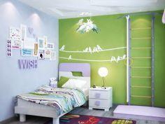Детская. Зеленый цвет в детской Вызывает чувство свежести, успокаивает, снижает слуховую чувствительность, способствует большей сосредоточенности и концентрации. В зеленом цвете можно оформить учебную зону.  Голубой. Способствует тихому отдыху и сну, снижает кровяное давление. Голубые тона производят впечатления легкости, воздушности, чистоты.