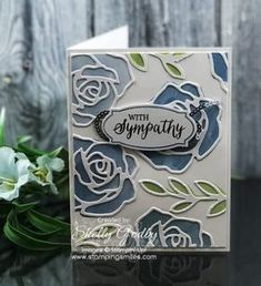 Stampin' Up! Rose Wonder card by Shelly Godby of www.stampingsmiles.com with Stampin' Up! Rose Wonder Stamp Set for a sympathy card with roses Stamping Up Cards, Get Well Cards, Cool Cards, Diy Cards, Die Cut Cards, Sympathy Cards, Watercolor Cards, Anniversary Cards, Greeting Cards Handmade