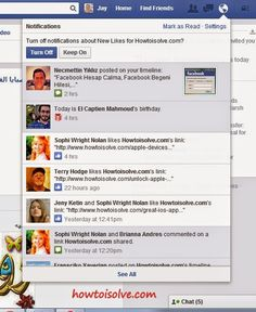 How to turn off Facebook notification for particular Facebook game notification or group or pages