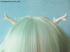 Lolita Antlers Hair Clips (White)