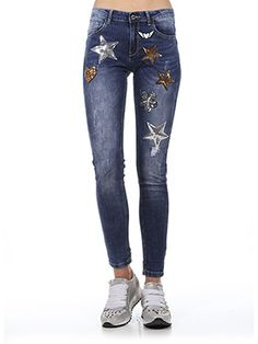 JEANS SKINNY FIT CON PATCH