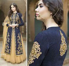 Lehenga Anarkali Indian Designer Bollywood Pakistani Blue Suit Salwar Kameez…