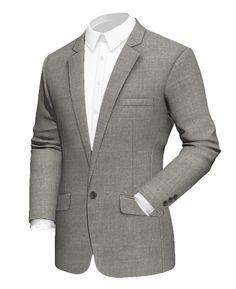 Light Grey Wool Blends one button Blazer Mens Fashion, Fashion Outfits, Blazer Buttons, Blazers For Men, Sport Coat, Double Breasted, Wool Blend, Suit Jacket, Grey