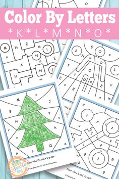 Let's work on K, L, M, N and O with these sweet color by letters worksheets!
