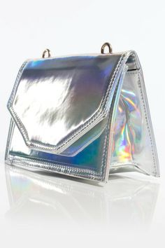 Hologram Effect Purse - Gypsum || Clothing & Accessories