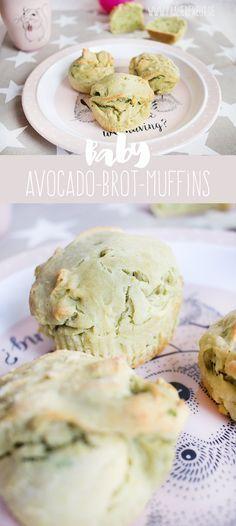 Baby Dinkel-Avocado-Brotmuffins ohne Salz und Zucker (ab ca. 8 Monat) www.frauerfreut.de