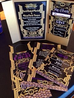 Great Gatsby Wedding Invitation EXTENDED Set on Etsy, $8.00